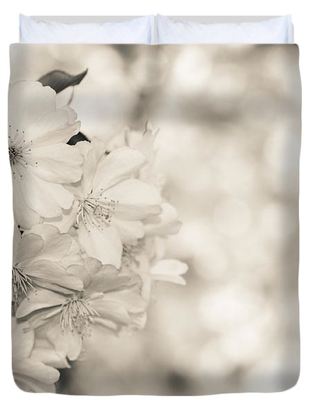 Finest Spring Time - Bw Duvet Cover by Hannes Cmarits