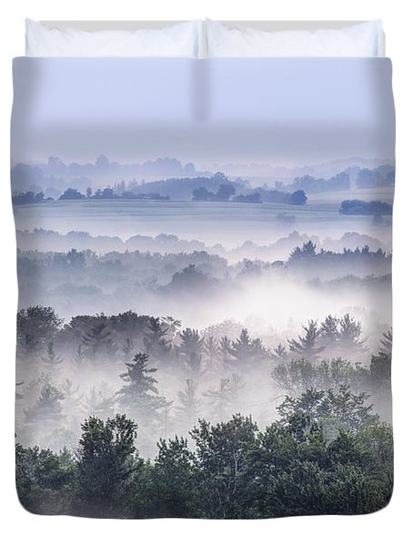 Finger Lakes Morning Duvet Cover
