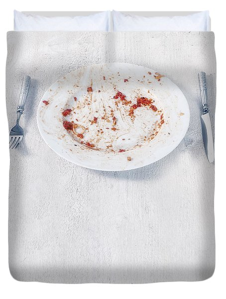 Finished Plate Duvet Cover by Joana Kruse