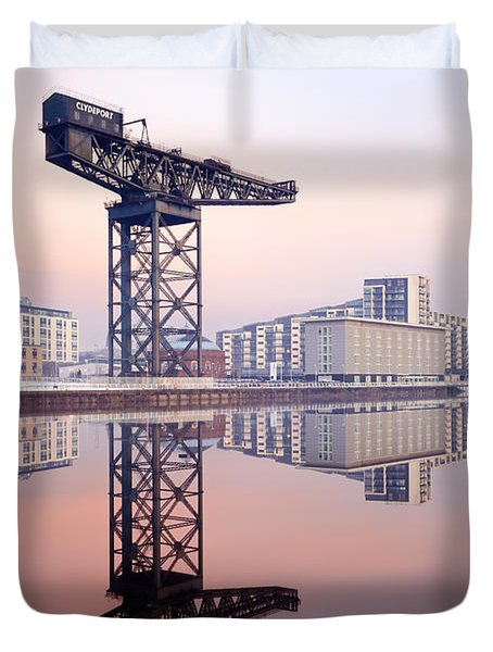 Finnieston Crane Reflection Duvet Cover