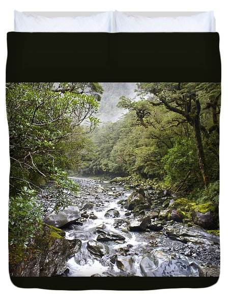 Fiordland National Park New Zealand Duvet Cover