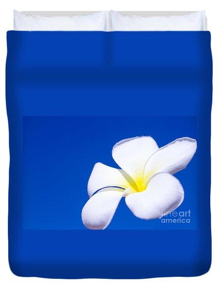Fiore Nel Cielo - The Blue Dream Of Sky Duvet Cover by Sharon Mau