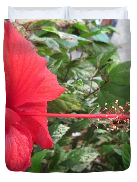 Fire And Ice Hibiscus Duvet Cover