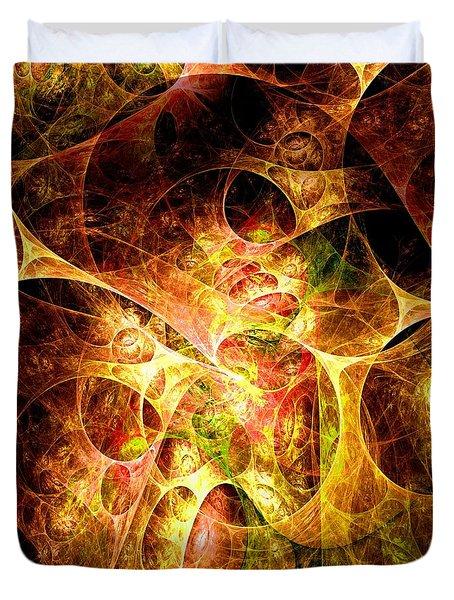 Fire And Shadow Duvet Cover by Anastasiya Malakhova