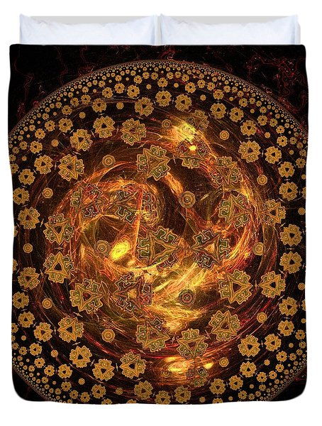 Fire Ball Filigree  Duvet Cover by Elizabeth McTaggart