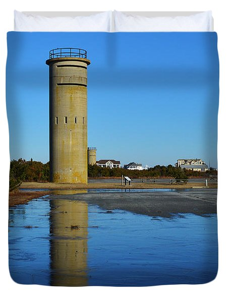 Fire Control Tower 3 Icy Reflection Duvet Cover