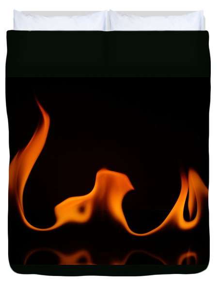 Duvet Cover featuring the photograph Fire Dance by Chris Fraser