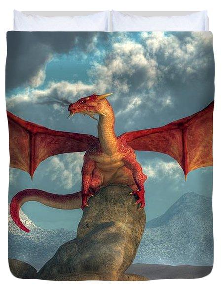Fire Dragon Duvet Cover