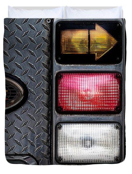 Fire Engine  Duvet Cover by Bob Orsillo