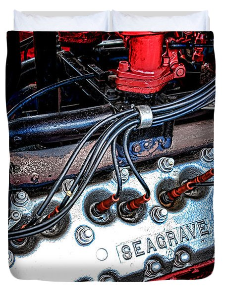 Fire Engine Engine Duvet Cover