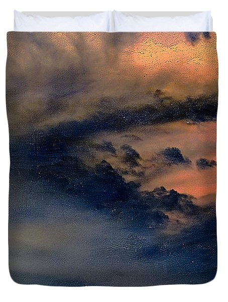 Fire In The Hills Duvet Cover