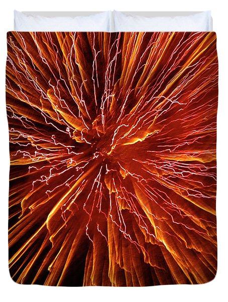 Fire In The Sky Duvet Cover by Carolyn Marshall