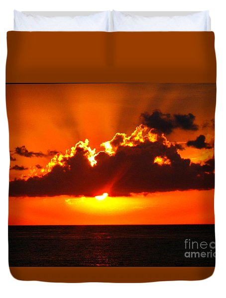 Fire In The Sky Duvet Cover by Patti Whitten