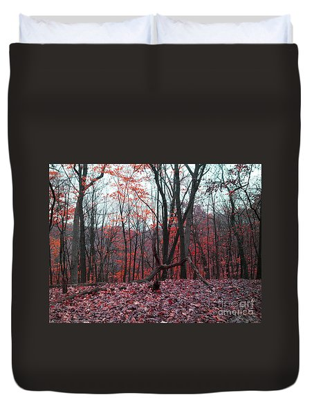 Fire In The Woodland Duvet Cover
