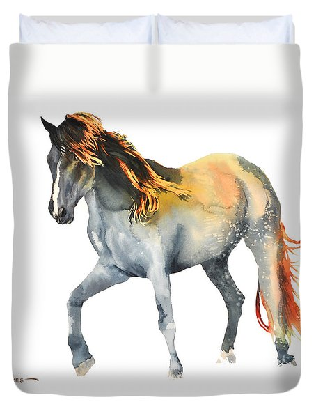 Da110 Fire Mane By Daniel Adams Duvet Cover