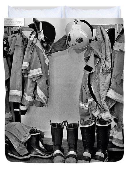 Fire Museum Beaumont Tx Duvet Cover by Christine Till