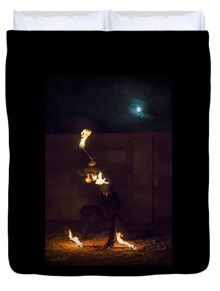 Fire Ninja Duvet Cover