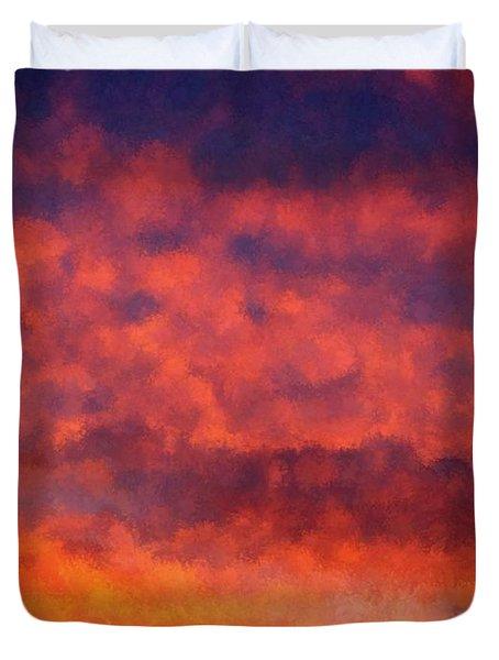 Fire On The Hillside Duvet Cover by Bruce Nutting