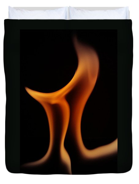 Duvet Cover featuring the photograph Fire Pi by Chris Fraser