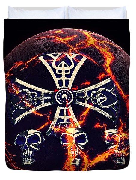 Fire Skulls Duvet Cover
