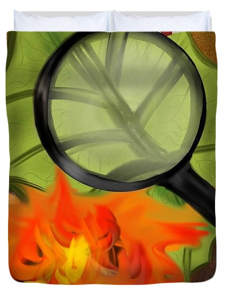 Fire Starter Duvet Cover by Christine Fournier