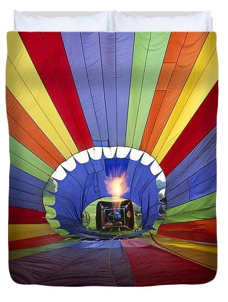 Fire The Balloon Duvet Cover by Martin Konopacki