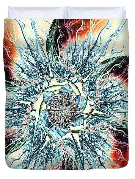 Fire Vs Ice Duvet Cover by Anastasiya Malakhova