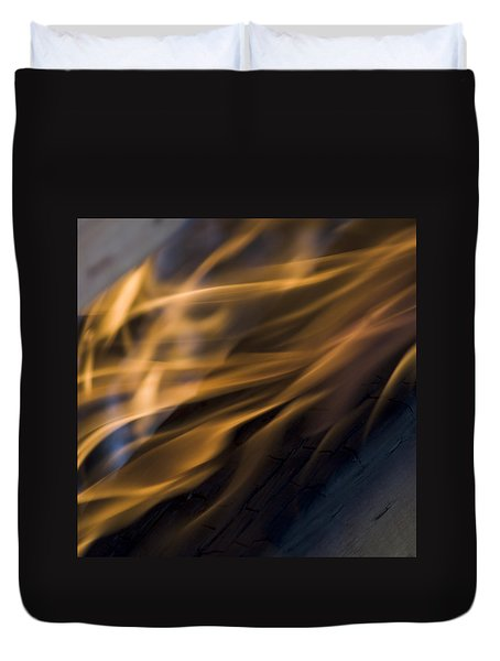Duvet Cover featuring the photograph Fire by Yulia Kazansky