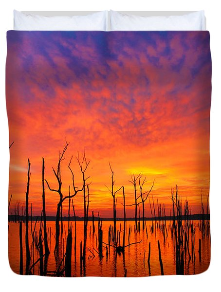 Fired Up Morn Duvet Cover by Roger Becker