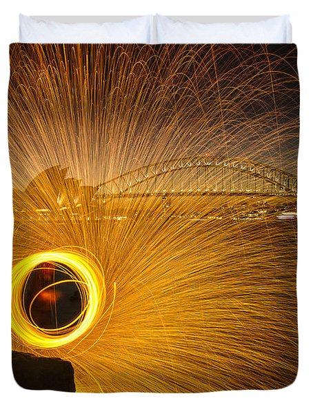 Fireflies Duvet Cover by Andrew Paranavitana