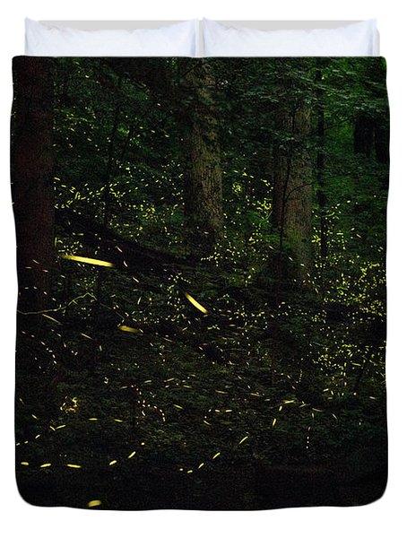 Fireflies Flash And Streak Duvet Cover