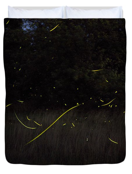Firefly Traces On A Summer Night Duvet Cover