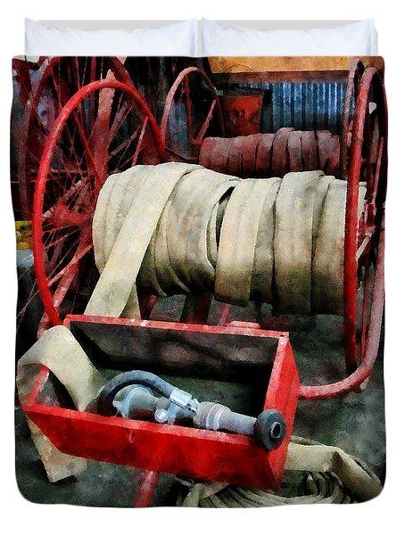 Fireman - Fire Hoses Duvet Cover