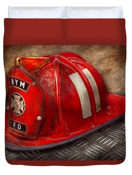 Fireman - Hat - A Childhood Dream Duvet Cover