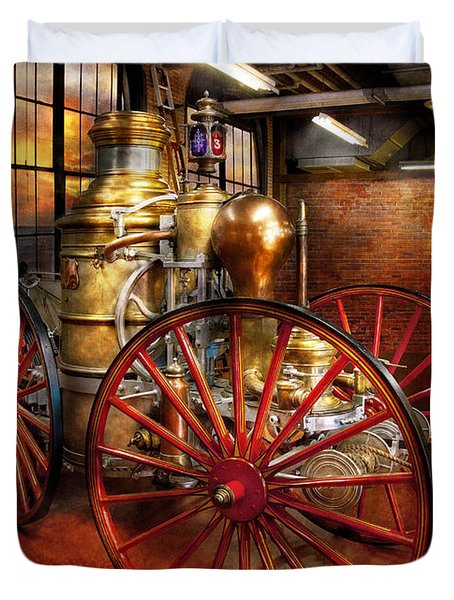 Fireman - One Day A Long Time Ago  Duvet Cover