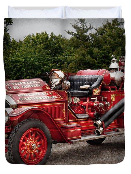 Fireman - Phoenix No2 Stroudsburg Pa 1923  Duvet Cover by Mike Savad