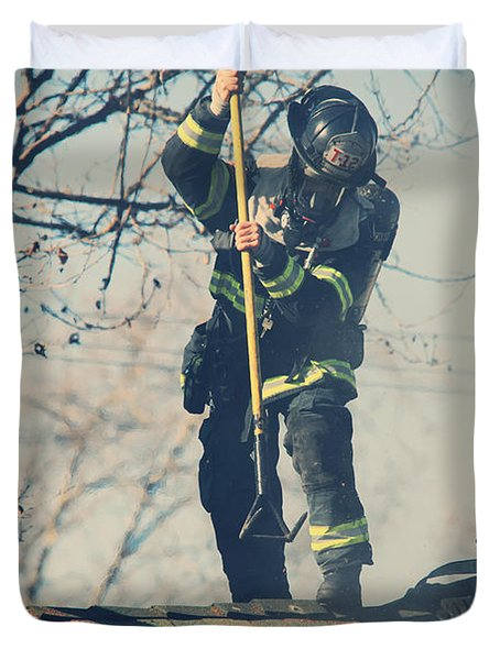 Firemen Duvet Cover by Laurie Search