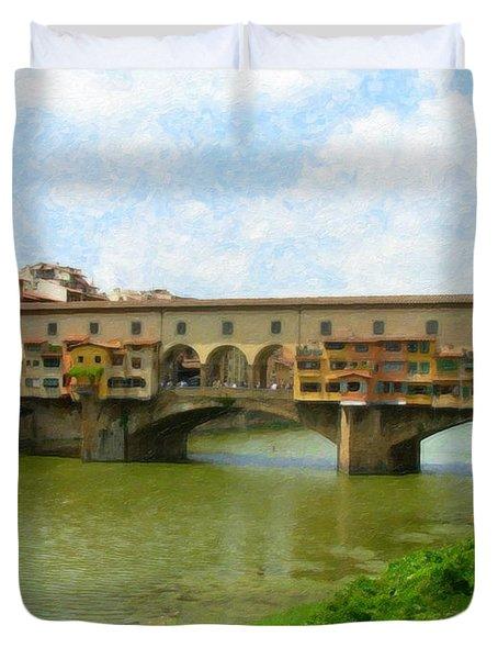 Firenze Bridge Itl2153 Duvet Cover