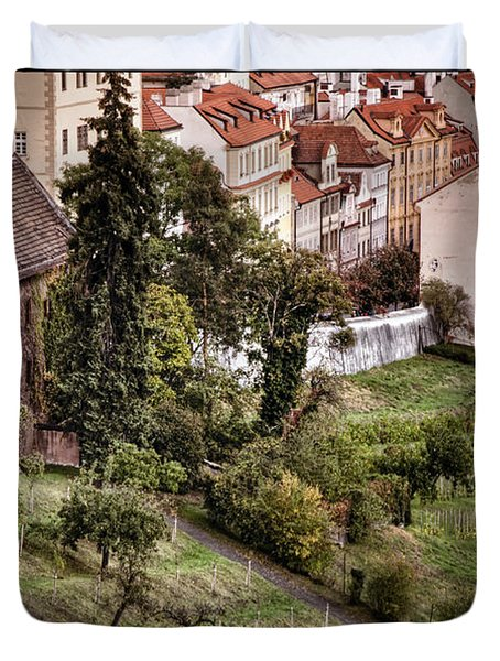 Firenze In Prague Duvet Cover by Joan Carroll