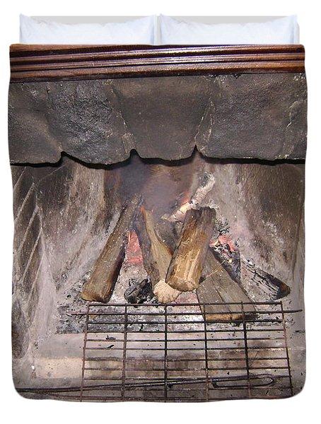 Fireplace Duvet Cover