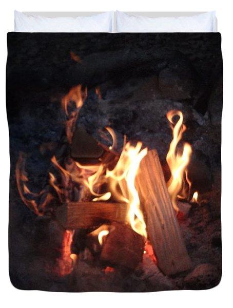 Fireside Seat Duvet Cover by Michael Porchik