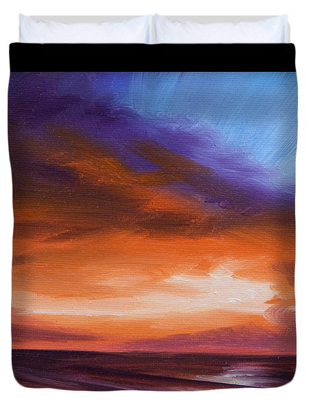 Firesun Sky Duvet Cover by James Christopher Hill