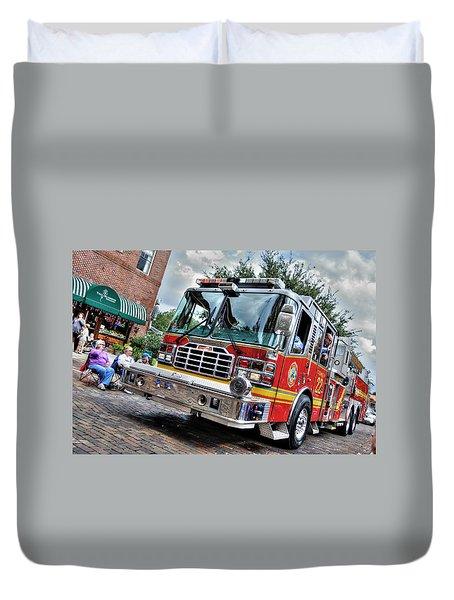 Firetruck Duvet Cover