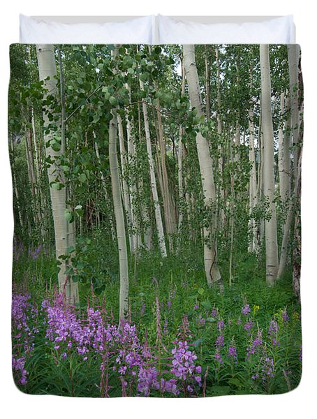 Fireweed And Aspen Duvet Cover