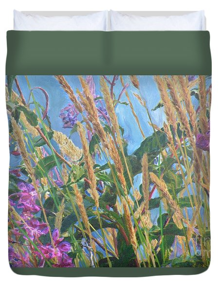 Duvet Cover featuring the photograph Fireweed Number Six by Brian Boyle