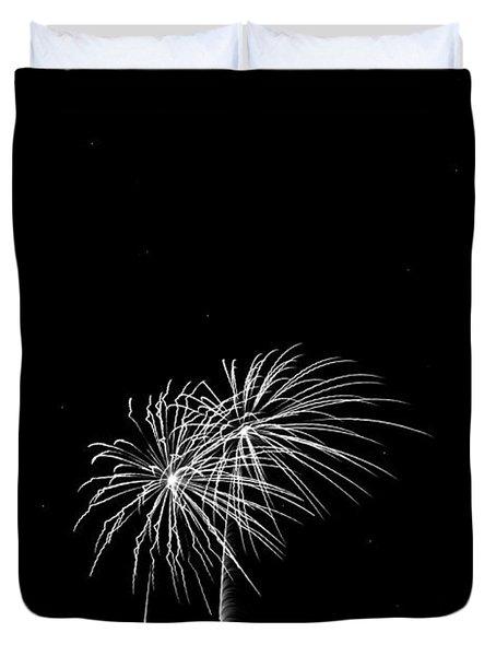 Firework Palm Trees Duvet Cover