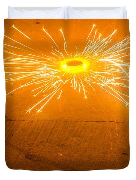 Firework Wheel Duvet Cover by Image World