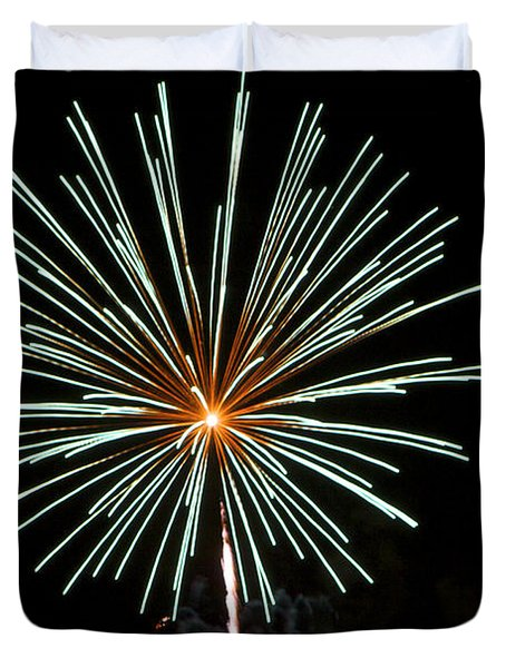Fireworks Bursts Colors And Shapes 2 Duvet Cover by SC Heffner