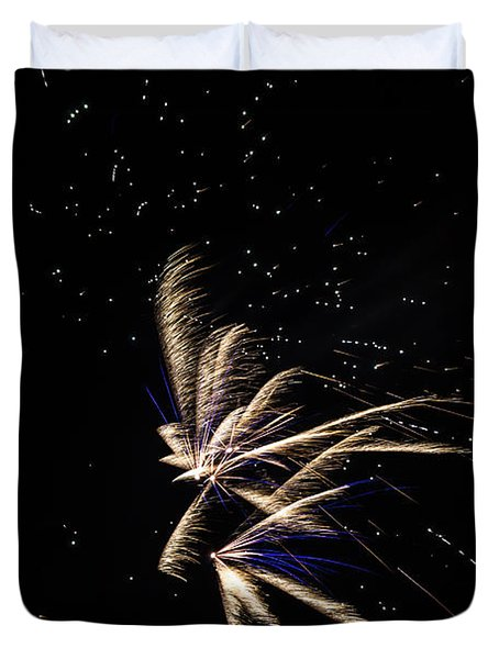 Fireworks - Dragonflies In The Stars Duvet Cover