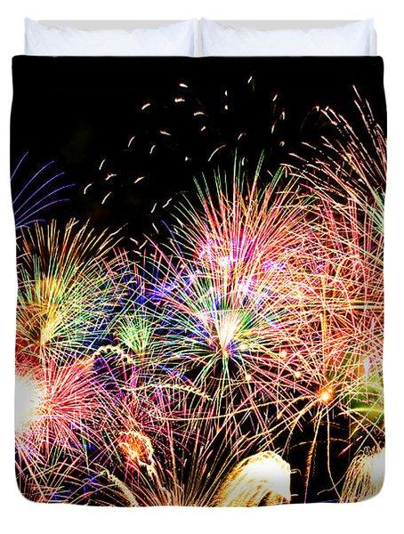 Fireworks Finale Duvet Cover